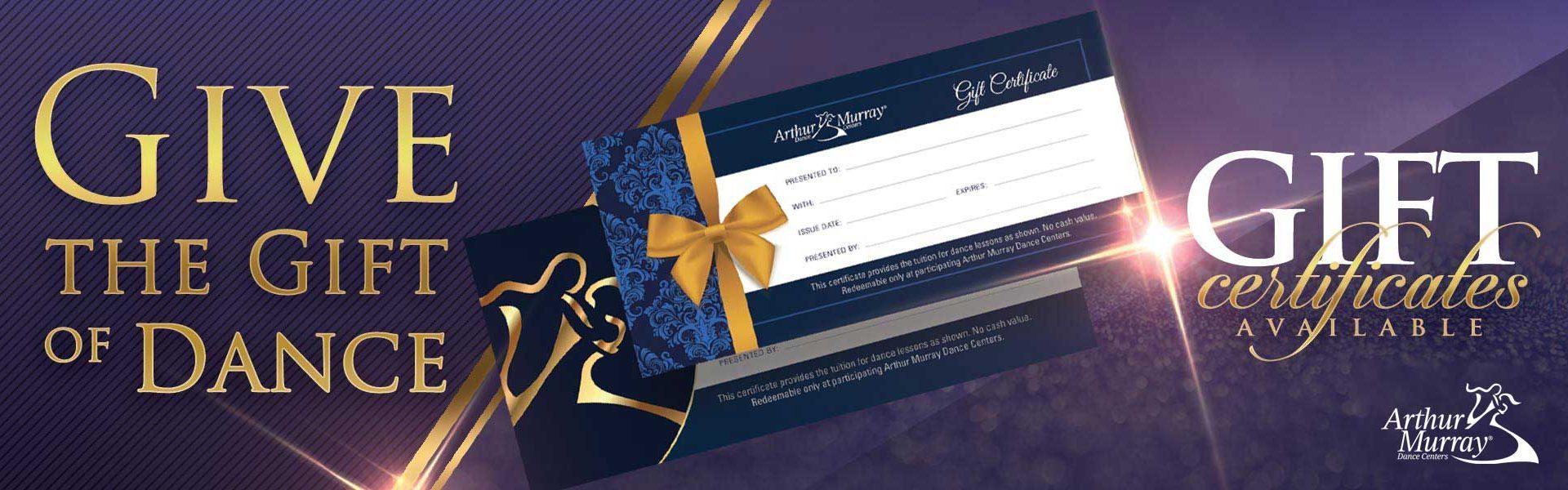 Arthur Murray Edgewater Gift Certificates